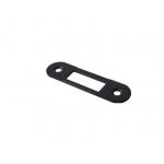 Планка ответная для дверей с наплавом, шириной 22мм универсальная, черная крашенная