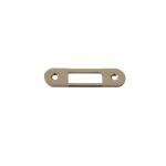 Планка ответная для дверей с наплавом, шириной 22мм, универсальная, никель полированный