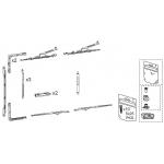 Комплект фурнитуры GS1000-HD, Европаз, правый, 09782000