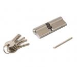 Цилиндр профильный 40/50, 5 ключей, никелированный