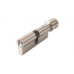 Цилиндр профильный с ручкой 40(ключ)/40(ручка), 5 ключей, никелированный