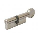 Цилиндр профильный с ручкой 40(ключ)/40(ручка), никелированный