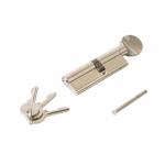 Цилиндр профильный с ручкой 40(ручка)/50(ключ), никелированный