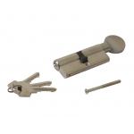 Цилиндр 40(ручка)-40(ключ) с плоской ручкой, никелированный