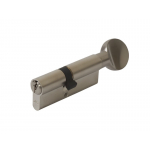 Цилиндр 45 (ручка) -35 (ключ) с плоской ручкой, никелированный