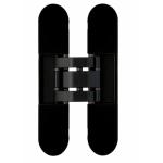 Петля скрытая, 3D, универсальная, 120x23 мм, 60 кг, цамак, черная