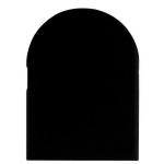 Накладка декоративная для скрытых петель, 120x30 мм, алюминий, черная