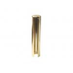 Накладка декоративная на рамную часть ввертных петель URSUS диаметром 18 мм, диаметр 19 мм, алюминий, золото полированное