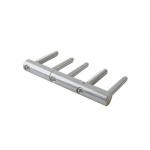 Петля ввертная, 5-штыревая, 3D регулируемая, диаметр 18 мм, сталь, оцинкованная