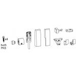 Комплект аксессуаров Giesse GS1000-HL, свыше 100 кг, черный RAL9005