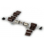Петля DOMINA HP NEW дверная Giesse 2-х секционная, без крепления, межосевое 62.5, коричневая RAL8017, 05160490V