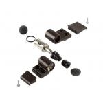 Петля DOMINA Classic дверная Giesse 2-х секционная, без крепления, межосевое 62.5, коричневая RAL8019, 06170640