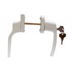 Ручка двухсторонняя дверная с замком и ключом (узкая + стандарт)