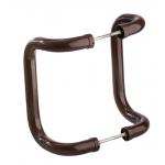 Офисная ручка-скоба Апейрон для входной двери, 250мм, цвет коричневый