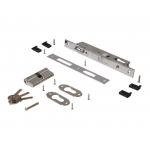 Замок ригель с роликом c ответной планкой, 2 накладки с ПЦ 35х35, 3 ключа, 1155/F23/25/85/8