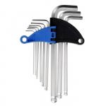 Набор ключей шестигранников TUNDRA comfort, CrV 1.5 - 10 мм 9 штук с шаром удлиненные