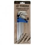 """Набор шестигранников """"TUNDRA comfort"""" 1.5 - 10 мм 9 штук с шаром удлиненные"""