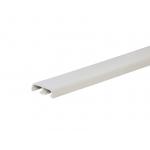 Наличник (нащельник) ПВХ жесткий 38х10 мм белый