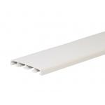 Наличник (нащельник) ПВХ жесткий 78х10 мм белый