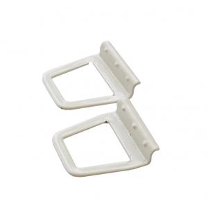 Ручки для москитной сетки металлические под шнур, 2 шт, цвет белый