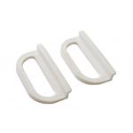 Ручки для москитной сетки  пластиковые белые под шнур, 2 шт