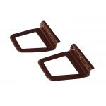 Ручки для москитной сетки металлические под шнур, 2 шт, цвет Коричневый