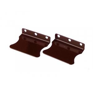 Ручки для москитной сетки металлические под саморезы, 2 шт, цвет Коричневый