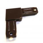 Угол для рамочной москитной сетки алюминиевый коричневый