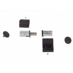 Петля DOMINA HP COVER NEW 2-х секционная, без крепления, межосевое 62.5, черная анодировка