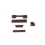 Комплект декоративных накладок на петли Internika, цвет темно-коричневый