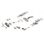 Комплект поворотный V.01 (ручка, петли, запоры, микровентиляция), неокрашенный, 01184005K