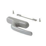 Комплект поворотный V.01 (ручка, петли, запоры, микровентиляция), серебро RAL9006, 01184970K