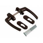 Гарнитур для балконной двери Rotoline коричневый