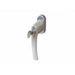 Ручка Rotoline с ключом 35мм, 90°, 2 винта М5х45, цвет серебро