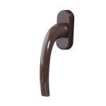Ручка оконная Internika Pushkin 35 мм коричневая, 45°