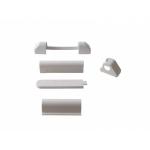 Комплект накладок на оконные петли, белый, (5 позиций), Elementis 2