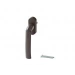 Ручка оконная Kronos штифт 37 мм, цвет коричневый