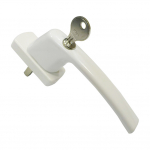 Ручка оконная с ключом и замком Maco Harmony, 35 мм, белая