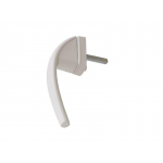 Ручка оконная алюминиевая 37 мм 45°, цвет белый аналог Swing