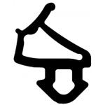 Уплотнитель для пластиковых окон Века рама/створка Semperit
