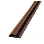 Уплотнитель для межкомнатных дверей контурный в паз, цвет коричневый