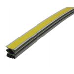 Уплотнитель для дверей магнитный самоклеящийся 14,5*12,5 мм (длина 2,1 м) серый