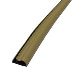 Уплотнитель для межкомнатных дверей контурный в паз, цвет дуб