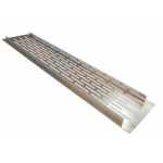 Вентиляционная решетка для подоконника 100х500 мм, инокс