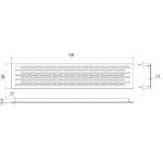 Вентиляционная решетка для подоконника 500х100 мм, серебристая