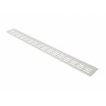 Вентиляционная алюминиевая решетка Bauset для подоконника 800 /80 мм белая