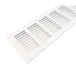 Вентиляционная решетка 250х80 мм, алюминий, белая