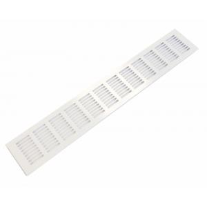 Вентиляционная решетка 480х80 мм, алюминий, белая, модель Slim