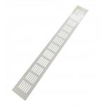 Вентиляционная решетка 480х60 мм алюминий белая модель Vals