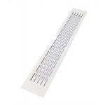 Вентиляционная решетка 480х80 мм, алюминий, белая, модель Chess